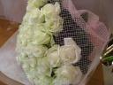 白バラ♪花束