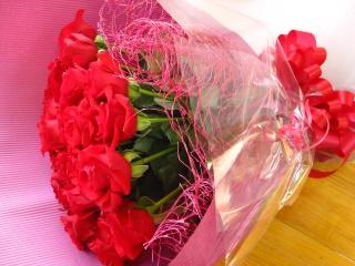 赤バラ♪花束