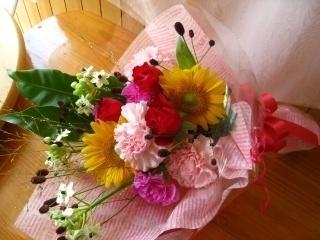 ミックスカラーおすすめ♪花束