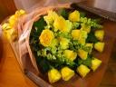 イエロー系の豪華な花束♪
