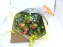 オレンジバラの花束