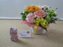 母の日に九谷焼のピンクの招き猫はいかがでしょうか?