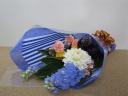 【配達OK】鮮やかな青い花束