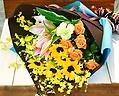 【父の日の贈り物】よくばりなヒマワリのおまかせ花束