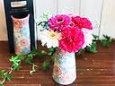 【母の日限定セット】陶器フラワーベースとお花たち