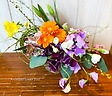 【おうちでアレンジ】春のお花の和風アレンジ