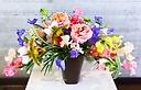 【おうちでアレンジ】春のお花で弓形アレンジメント