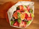 オレンジ色が素敵なブーケ風の花束