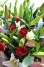 花束【赤バラとユリの花束】