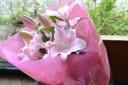 花束【ピンクユリの花束】