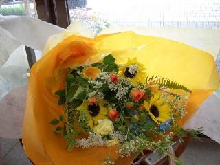 ひまわりの花束「大地の恵み」