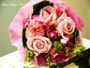 淡いクラシックモダンピンクの花束「フルール」