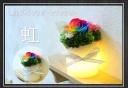 LEDプリザーブドフラワー「虹」