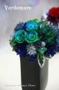 母の日の贈り物☆青緑色アレンジVerdemare