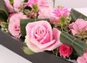 ピンク薔薇メインのおしゃれアレンジメント