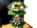 通夜・告別式用のスタンド花(2段)
