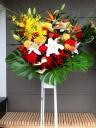 秋のお祝いスタンド花(1段)明るい色合わせ