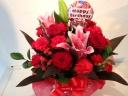 お誕生日を赤色でお祝い!