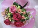 ピンクレットの可愛い花束