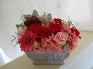 プリザーブドフラワー 大輪のバラ