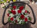 バラとカーネとカスミ草