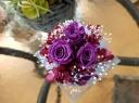 LED花キャンドル パープル