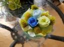 LED花キャンドル イエローブルー