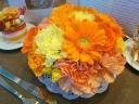 フラワーケーキ★生花★オレンジ