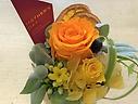 母の日に贈るオレンジ系のプリザーブドフラワー