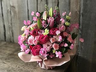 【お祝い】アレンジメント L  ピンク濃淡