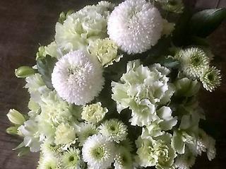 【お供え】アレンジメント S ホワイト×グリーン
