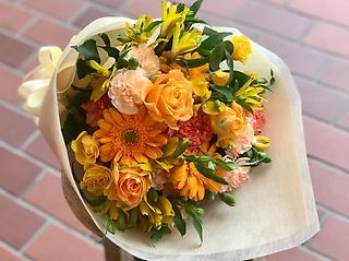 【お祝い】花束 S  イエロー×オレンジ