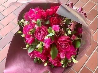 【お祝い】花束 L  レッド系