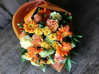 【お祝い】花束 M  イエローオレンジ系