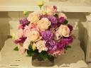 落ち着いた雰囲気のピンク&パープル