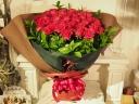 真っ赤なバラの花束・30本