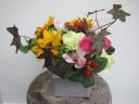 ヒマワリと季節の花たち
