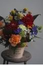 ダリアと季節の花アレンジ4000