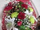 バラとユリのスタンダード花束4000