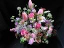 バラと春の花アレンジ3500