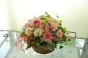 カワイイピンクの花いっぱいアレンジ