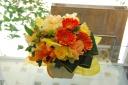 【母の日】元気なお母さんにビタミンカラーのアレンジ