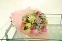 パステルカラーの優しい花束