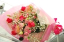 【母の日】華やかなピンク色の花束