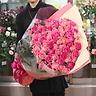 ピンクバラミックス100本の花束