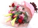 春の【ピンク&レッド系】華やか花束