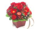 【冬の贈り物】赤色のアレンジメント