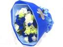 【オリジナル染色】青いバラを入れたブーケ風花束