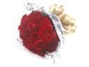 お洒落な赤いバラのブーケ風花束