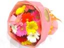 ガーベラ5色MIXのブーケ風花束